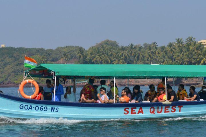 Boat to grand Island Trip Goa