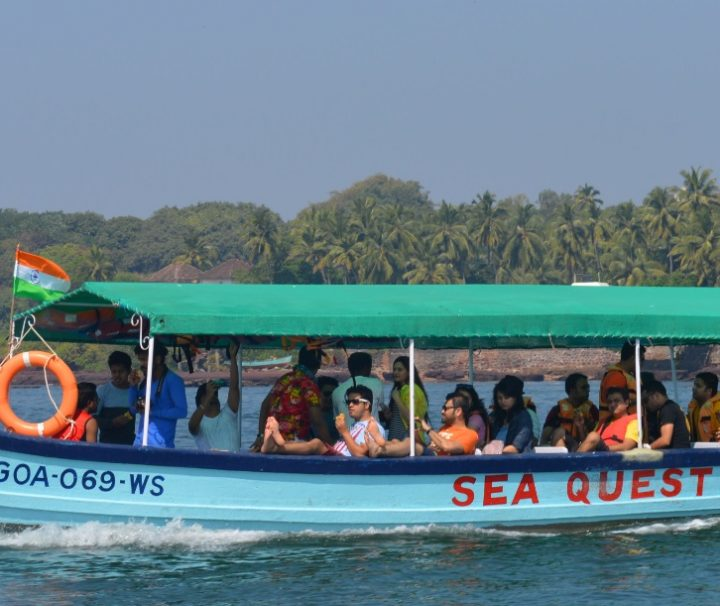Boat to grand Island Trip Goa